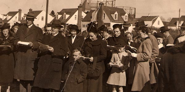 The first congregation of St. Philip-in-the-Fields (ca. 1945)
