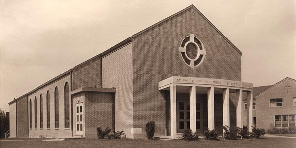 The Sanctuary shortly after it was finished. (ca. 1956)